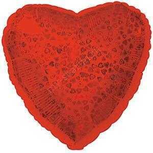 Сердце, Красное, голография 46 см