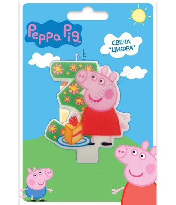 Свеча , Свинка Пеппа, от 1 до 5, 8см