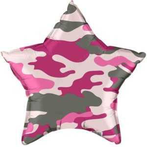 Звезда, Камуфляж, Розовый, 46см