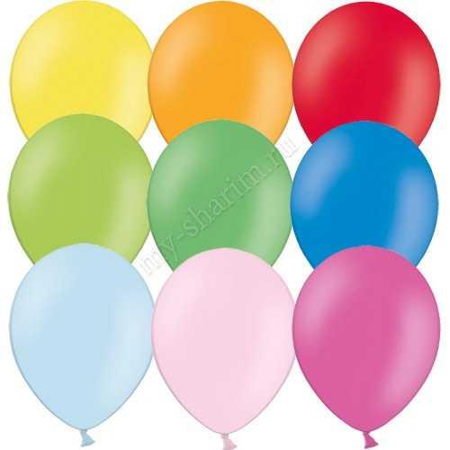 Гелиевый шарик с обработкой, пастель 25см