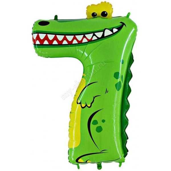 Цифра 7, Крокодил, 102см