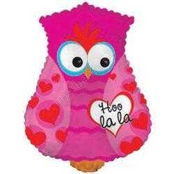 Фигура, Влюбленная сова, Розовый, 56 см