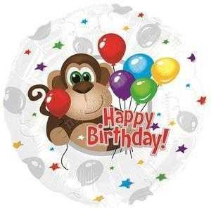 Круг, С Днем рождения (обезьянка), 46см