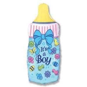 Фигура, Бутылочка для мальчика, Голубой, 79 см