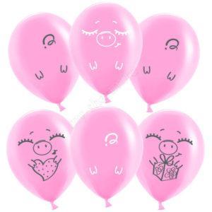 Забавные свинки, Розовый, 30см