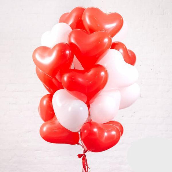 Сердце Красный, пастель, 30 см