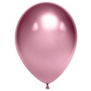 Шар Розовый, хром