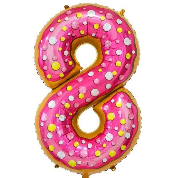 Цифра, 8, Пончик, 86см, 1шт.