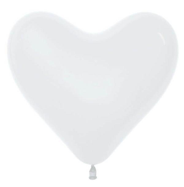 Сердце Белый , пастель, 41 см