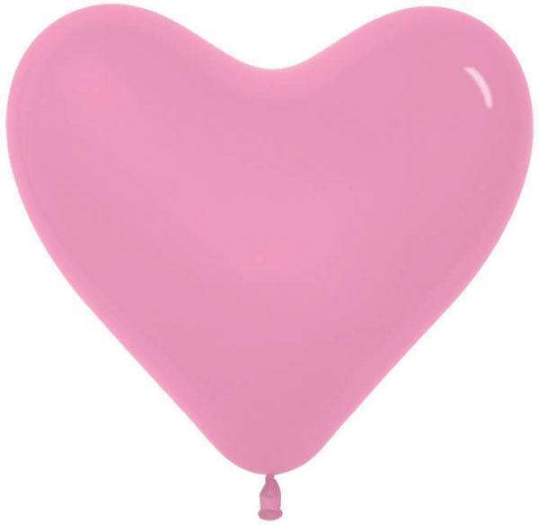 Сердце Розовый, пастель, 30 см