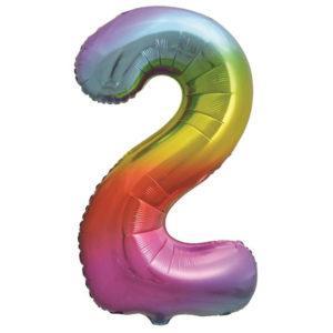 Цифра, от 0 до 9, Яркая радуга, Градиент, 86см, 1шт. (Копировать)