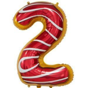 Цифра, 2, Пончик, 86см, 1шт.