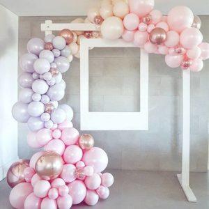 Гирлянда нежно розовая-сиреневая